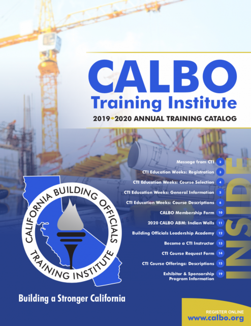 CALBO Education Weeks Registration - California Building Officials